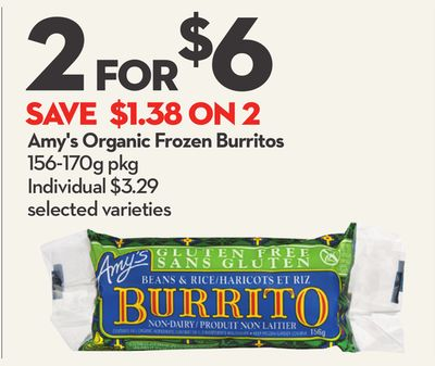 Amy's Organic Frozen Burritos
