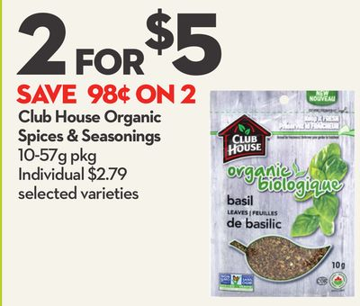 Club House Organic Spices & Seasonings