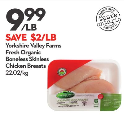 Yorkshire Valley Farms Fresh Organic Boneless Skinless Chicken Breasts