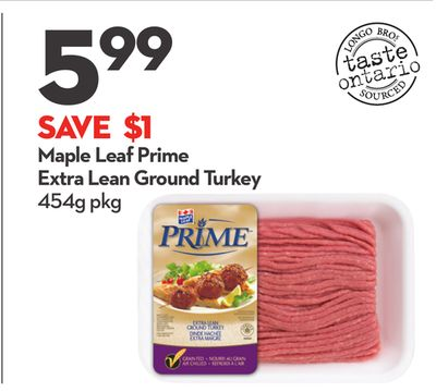 Maple Leaf Prime Extra Lean Ground Turkey