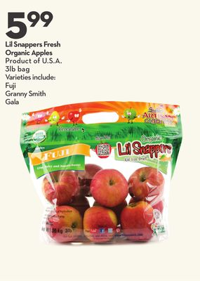 Lil Snappers Fresh Organic Apples