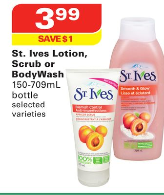 St. Ives Lotion - Scrub or Body Wash