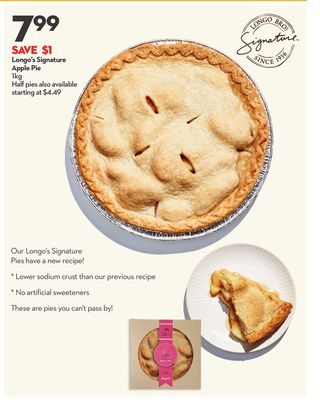 Longo's Signature Apple Pie