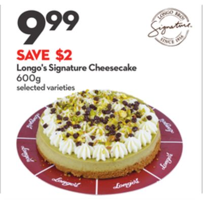 Longo's Signature Cheesecake