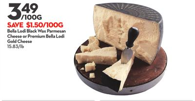 Bella Lodi Black Wax Parmesan Cheese or Premium Bella Lodi Gold Cheese