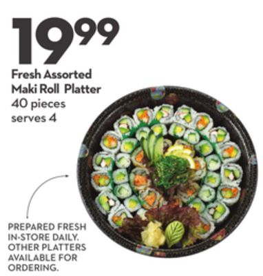 Fresh Assorted Maki Roll Platter
