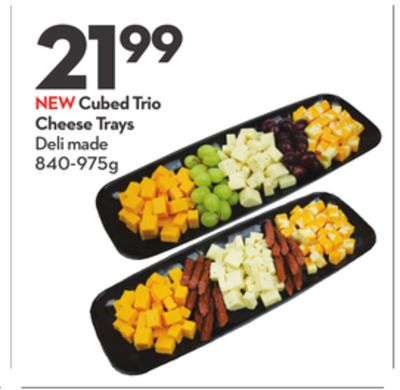 Cubed Trio Cheese Trays