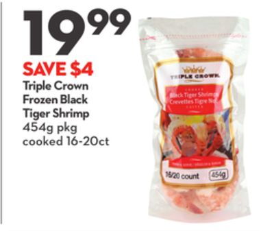 Triple Crown Frozen Black Tiger Shrimp