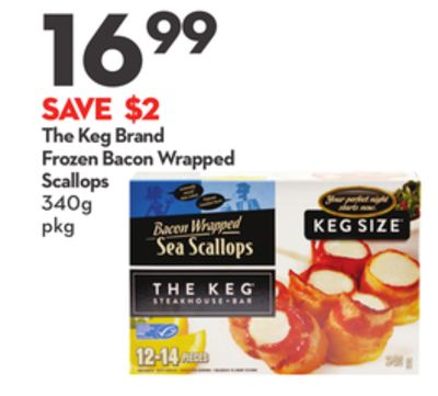 The Keg Brand Frozen Bacon Wrapped Scallops