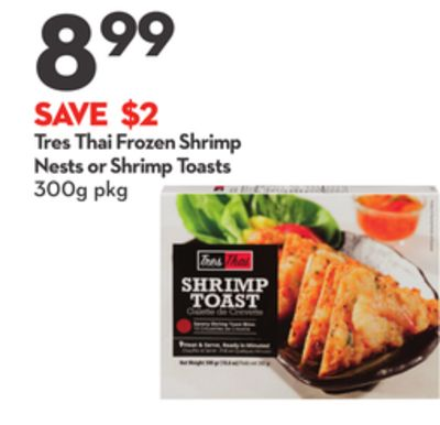 Tres Thai Frozen Shrimp Nests or Shrimp Toasts