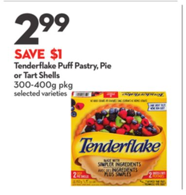 Tenderflake Puff Pastry - Pie or Tart Shells
