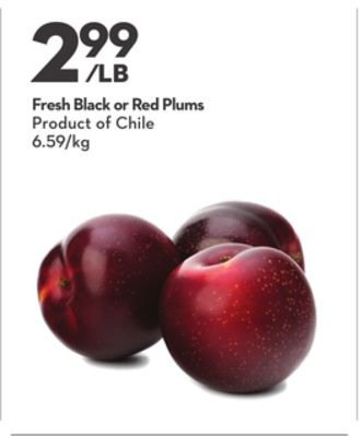 Fresh Black or Red Plums