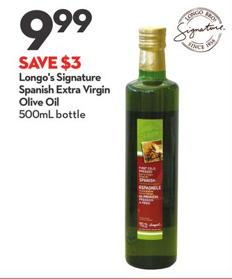 Longo's Signature Spanish Extra Virgin Olive Oil