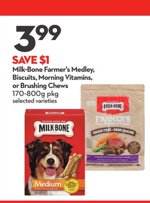 Milk-bone Farmer's Medley - Biscuits - Morning Vitamins - or Brushing Chews