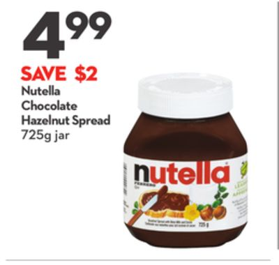Nutella Chocolate Hazelnut Spread