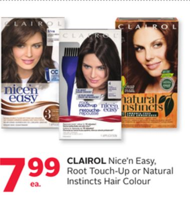 Clairol Nice'n Easy Root Touch-up or Natural Instincts Hair Colour