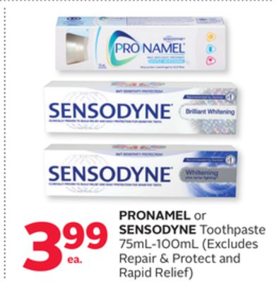 Pronamel or Sensodyne Toothpaste