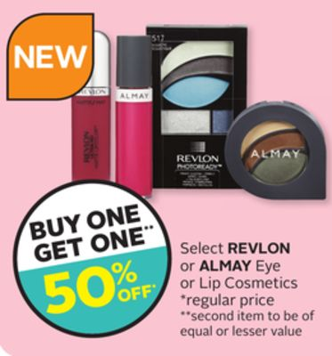Select Revlon Or Almay Eye Or Lip Cosmetics