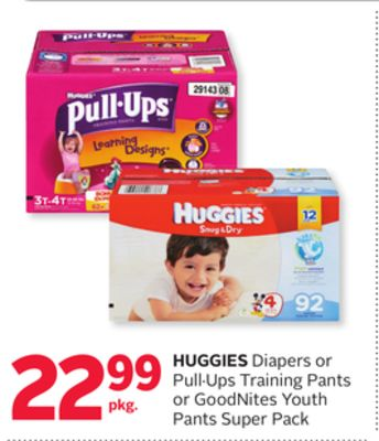 Huggies Diapers or Pull·ups Training Pants or Goodnites Youth Pants Super Pack