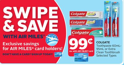Colgate Toothpaste 60ml- 95ml or Extra Clean Toothbrush
