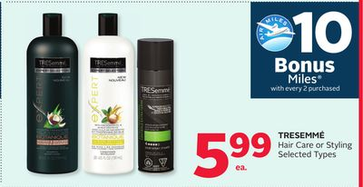 Tresemmé Hair Care or Styling - 10 Bonus Air Miles Reward Miles
