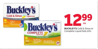 Buckley's Cold & Sinus Or Complete Liquid Gels