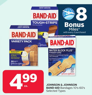 Johnson & Johnson Band-aid Bandages - 8 Bonus Air Miles Reward Miles
