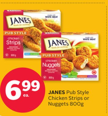 Janes Pub Style Chicken Strips or Nuggets