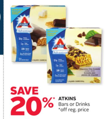 Atkins Bars or Drinks