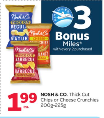 Nosh & Co. Thick Cut Chips Or Cheese Crunchies - 3 Bonus Air Miles Reward Miles