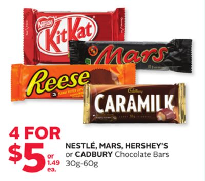Nestlé - Mars.hershey's or Cadbury Chocolate Bars