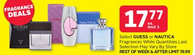Select Guess or Nautica Fragrances