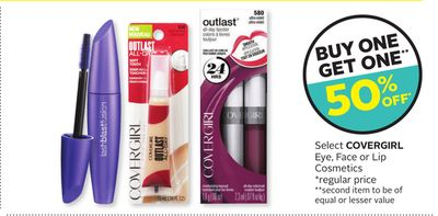 Select Covergirl Eye - Face or Lip Cosmetics