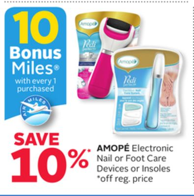 Amopé Electronic Nail or Foot Care Devices or Insoles - 10 Bonus Air Miles Reward Miles
