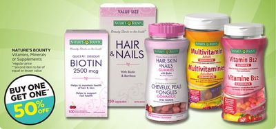 Nature's Bounty Vitamins - Minerals or Supplements