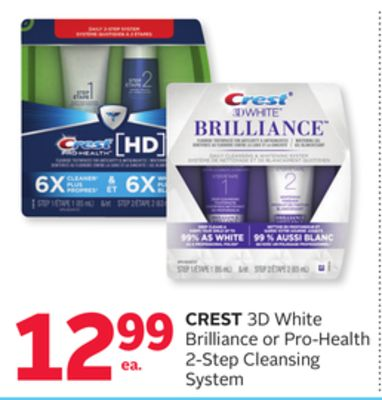 Crest 3D White Brilliance or Pro-health 2-step Cleansing System