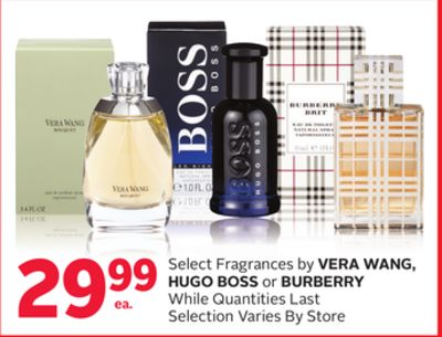 Select Fragrances By Vera Wang - Hugo Boss or Burberry