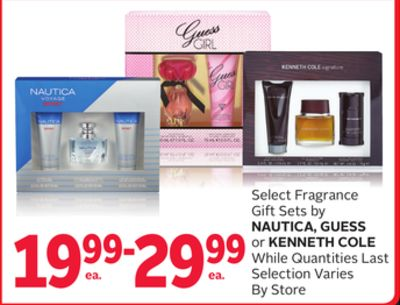 Select Fragrance Gift Sets By Nautica.guess or Kenneth Cole