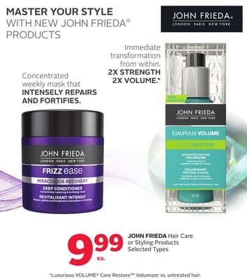 John Frieda Hair Care or Styling Products