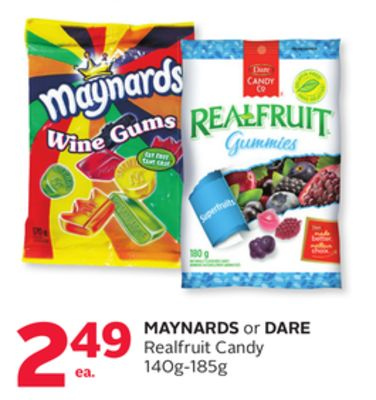 Maynards or Dare Realfruit Candy