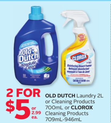 Old Dutch Laundry 2l or Cleaning Products 700ml or Clorox Cleaning Products 709ml-946ml