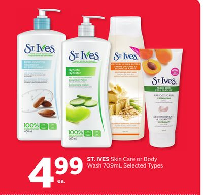 St. Ives Skin Care or Body Wash