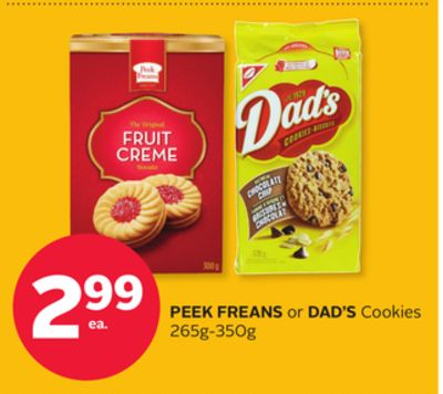Peek Freans or Dad's Cookies 265g-350g
