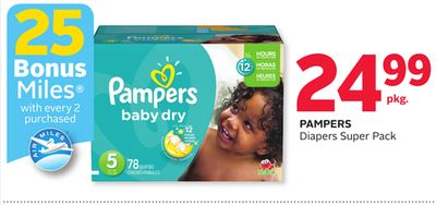 Pampers Diapers Super Pack - 25 Bonus Air Miles Reward Miles