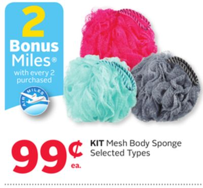 Kit Mesh Body Sponge - 2 Bonus Air Miles Reward Miles