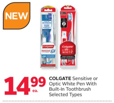 Colgate Sensitive or Optic White Pen With Built-in Toothbrush