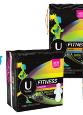 U By Kotex Ultra Thin Pads 13's-24's - Liners 36's-64's or Tampons 15's-18's