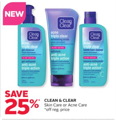 Clean & Clear Skin Care or Acne Care