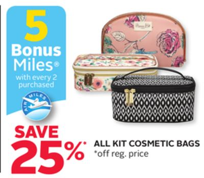 All Kit Cosmetic Bags - 5 Bonus Air Miles Reward Miles