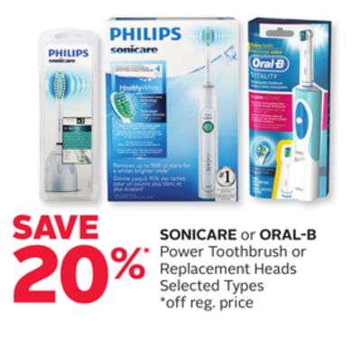 Sonicare or Oral-B Power Toothbrush or Replacement Heads